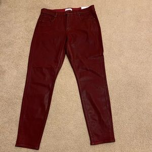 NEW LOFT TIBETAN RED COATED SLIM FIT JEANS SIZE 12